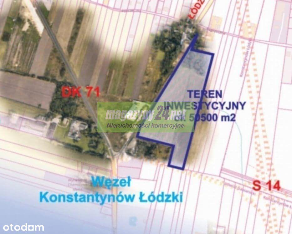 Działka, 50 500 m², Konstantynów Łódzki