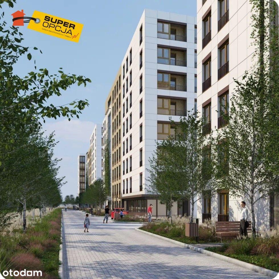 Nowe osiedle, witryny, parking, pewna inwestycja
