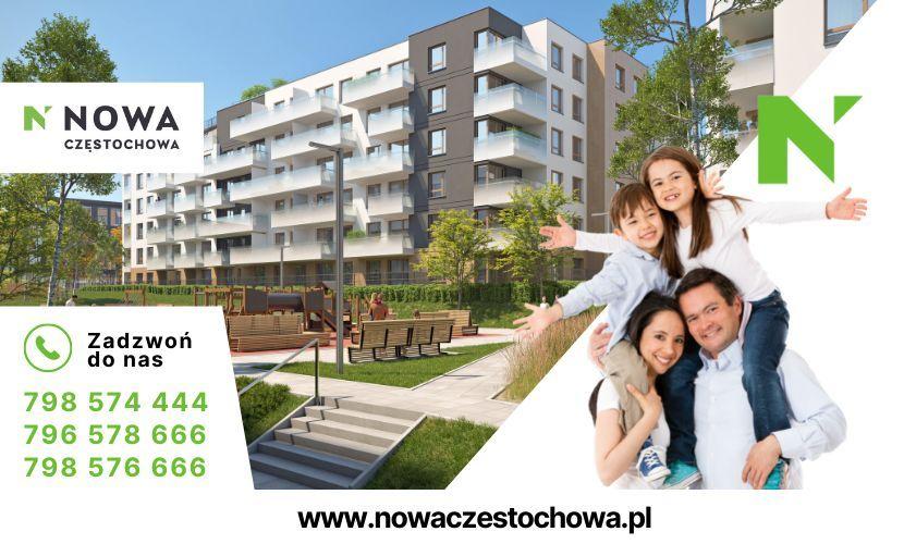 Nowa Częstochowa  3 pokoje z tarasem  72m2   GARAŻ