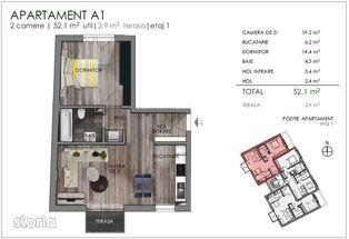 Apartamente noi de 2 camere, imobil mic, situat in zona semicentrala!