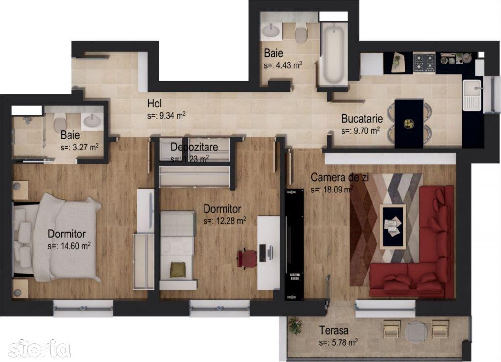 Apartament 3 camere LIOR by Casa Nobel