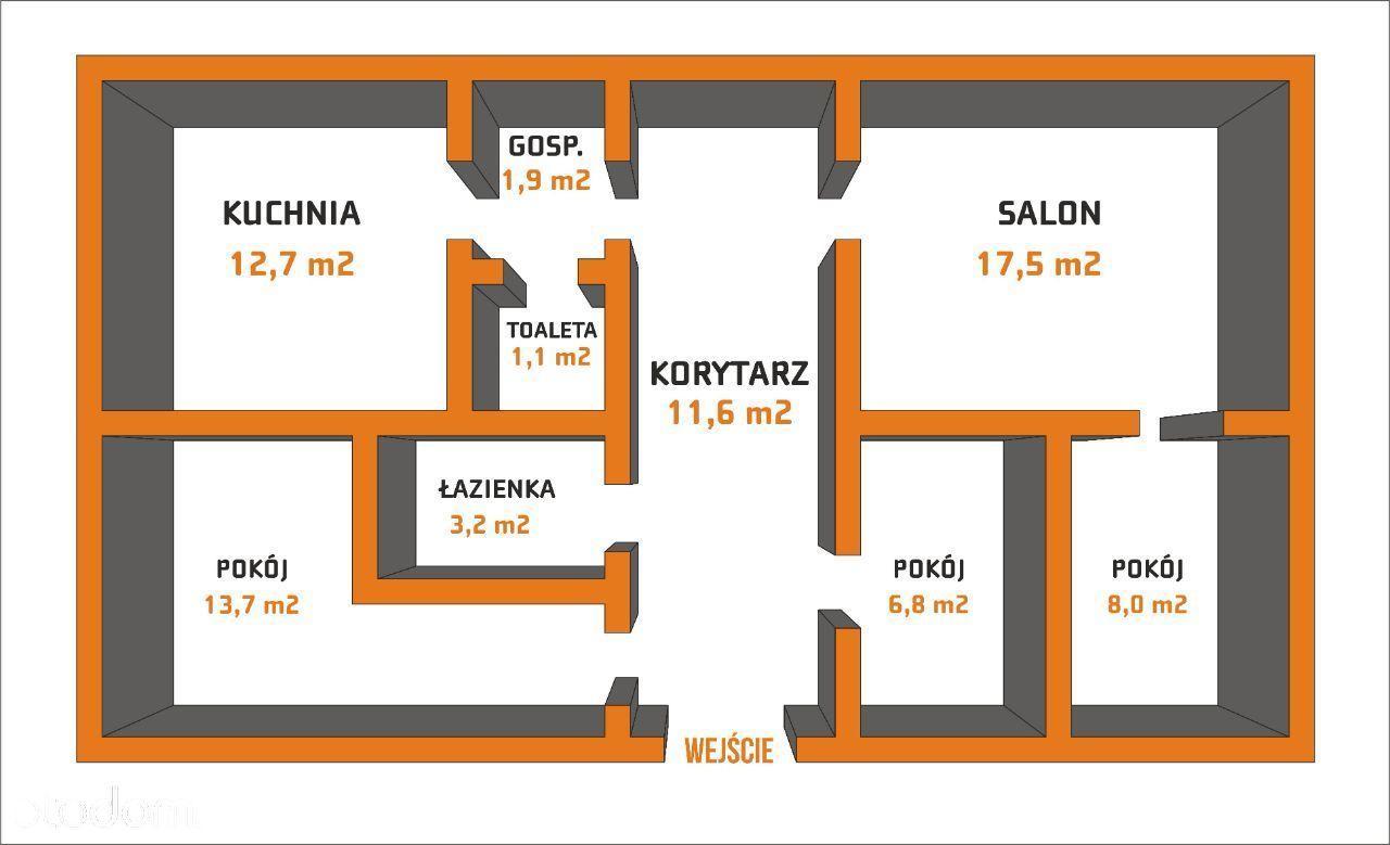 Mieszkanie Szczytno 77,4m2 rewelacyjna lokalizacja