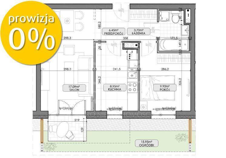 2 pokoje z ogródkiem ! Nowy Blok ! - Lato 2022 -