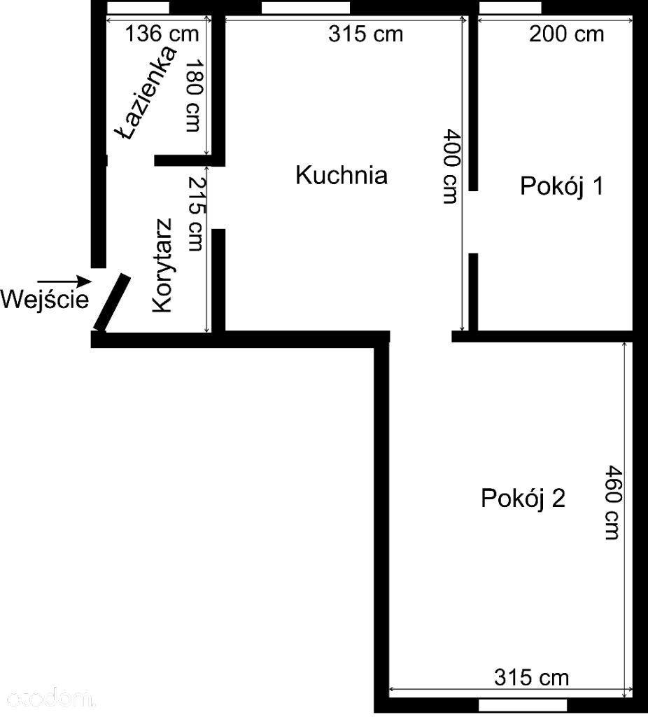 Mieszkanie (40 m2) z piwnicą (14 m2) - do remontu