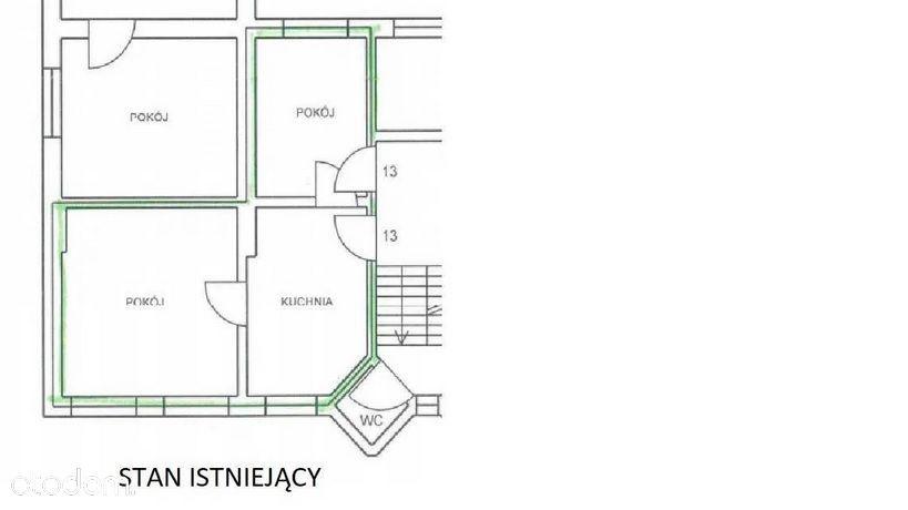 Centrum, 54 m2, 3 pokoje