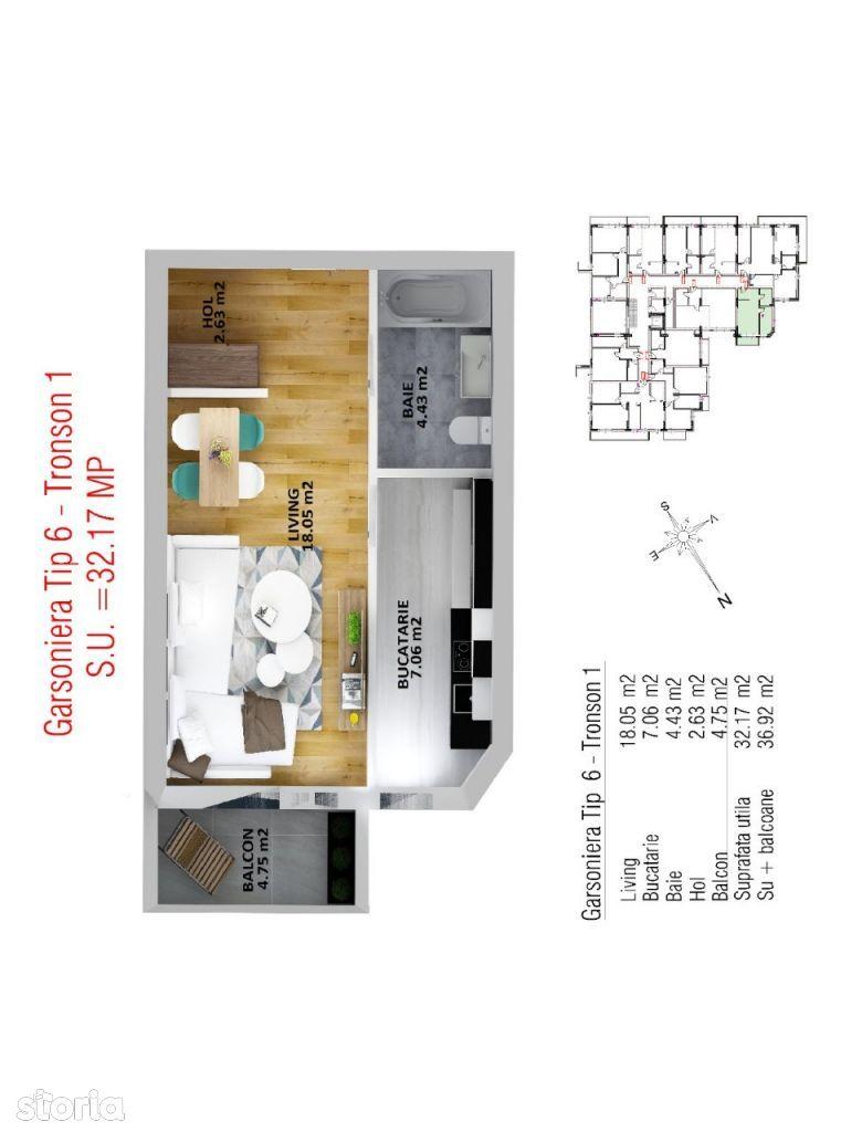0% Comision Vedere Parc Apartament 1 camera TVA inclus Oferta Sector 4