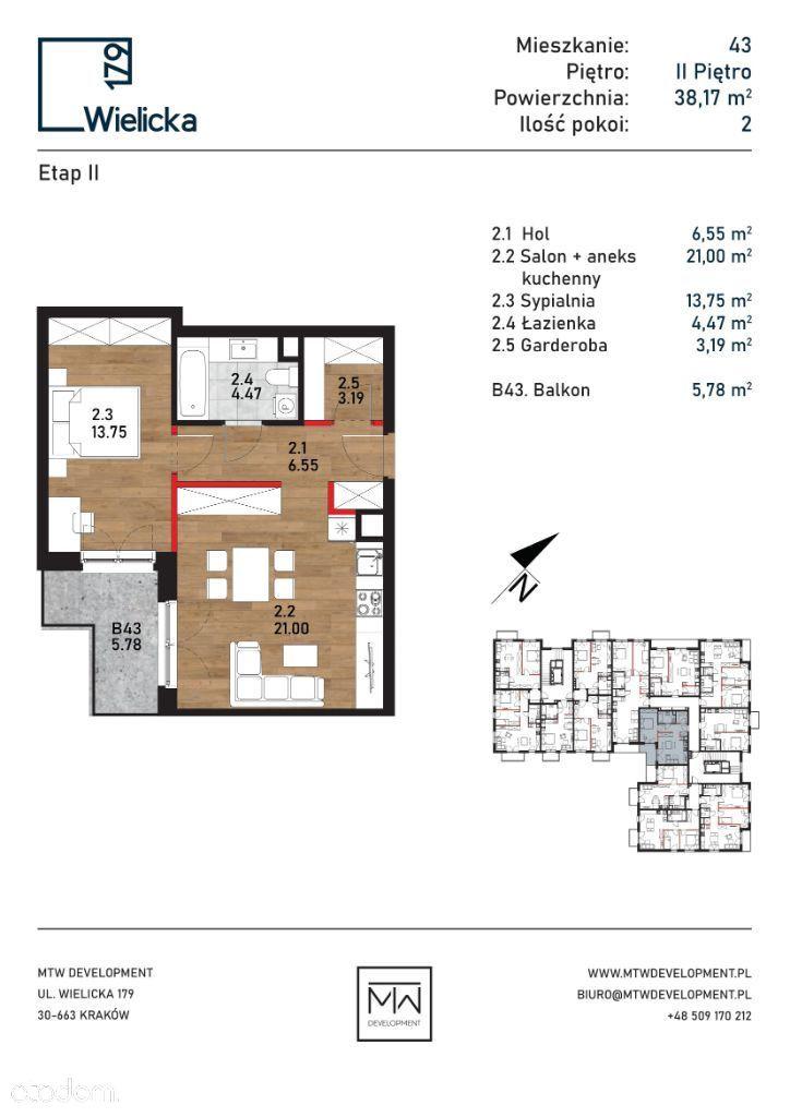 Wielicka 179 | etap II | budynek A mieszkanie 43