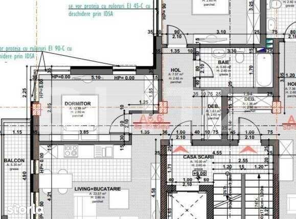 Apartament 3 camere, posibilitate decomandare, 64 mp, semifinisat,...