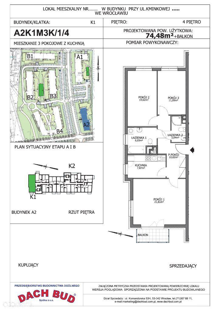 Przepiękne i funkcjonalne 3-pokoje+kuchnia+2łazien