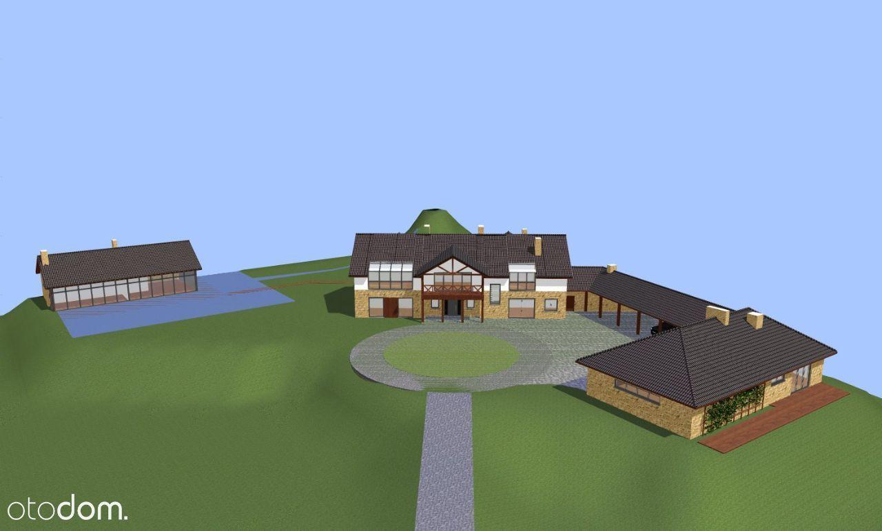 Dom w stanie surowym z dużą działką