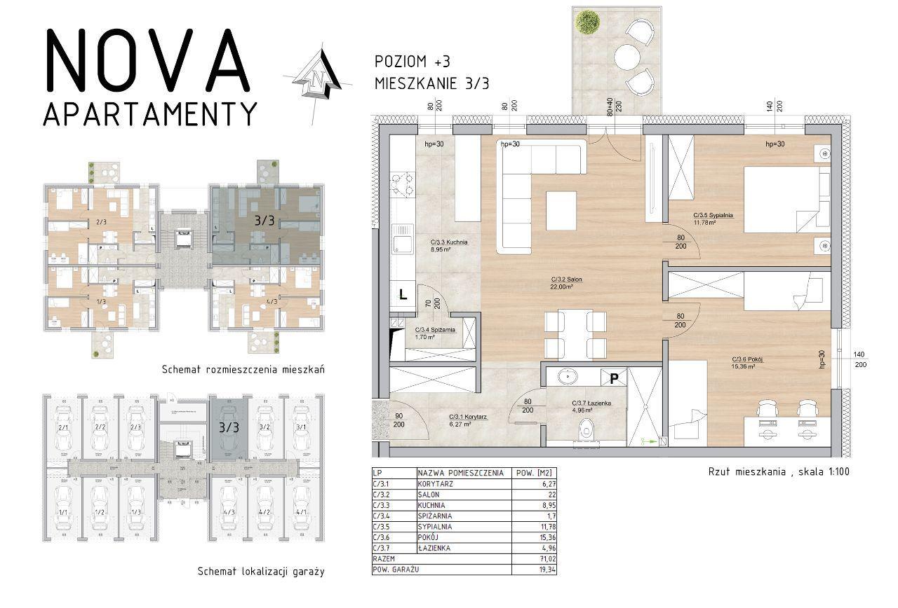 Przestronne Mieszkanie Nova Apartamenty M3/3