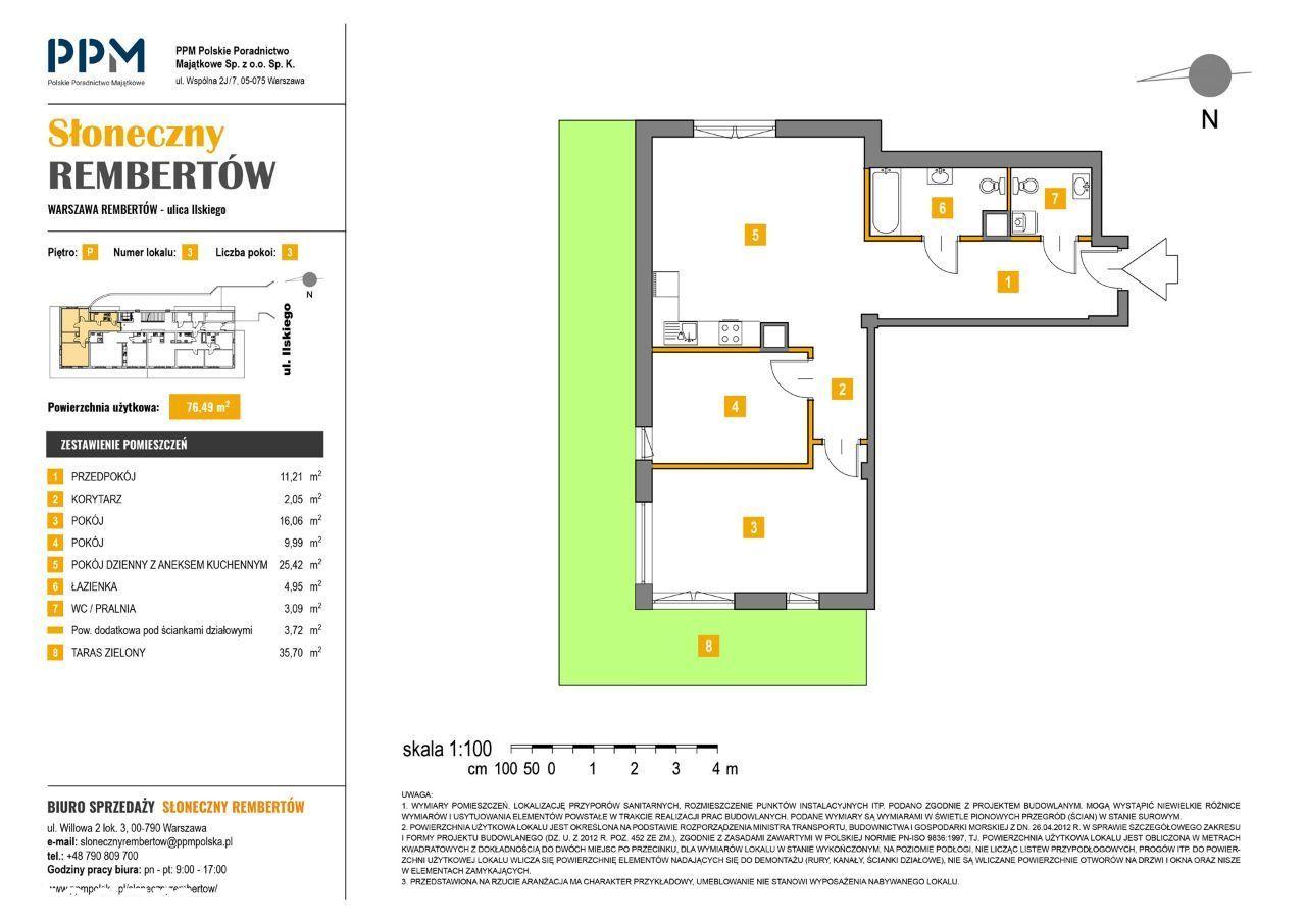Mieszkanie Warszawa Rembertów 76,49m² + ogródek