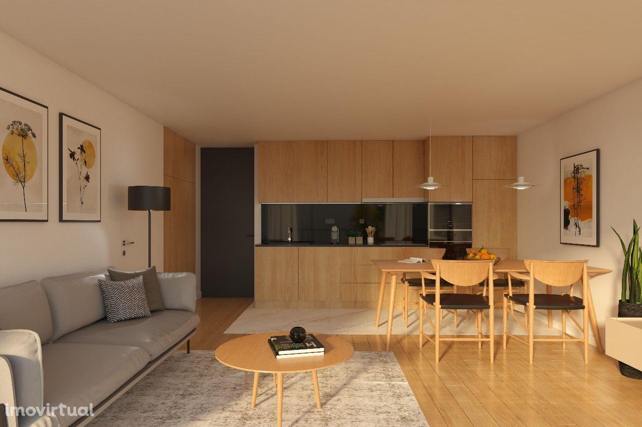 Apartamento T2 com Varanda em Condomínio Privado com Piscina e Ginásio