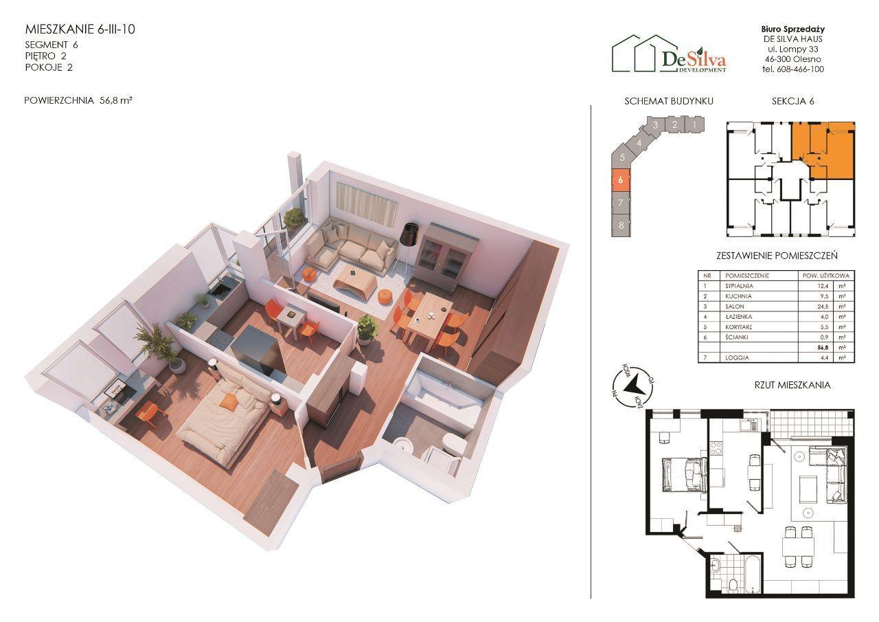 Mieszkanie 3pok.w nowym bloku garaż podziemny 6310