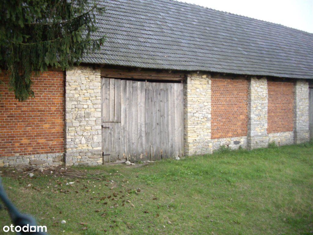 działka z murowaną stodołą