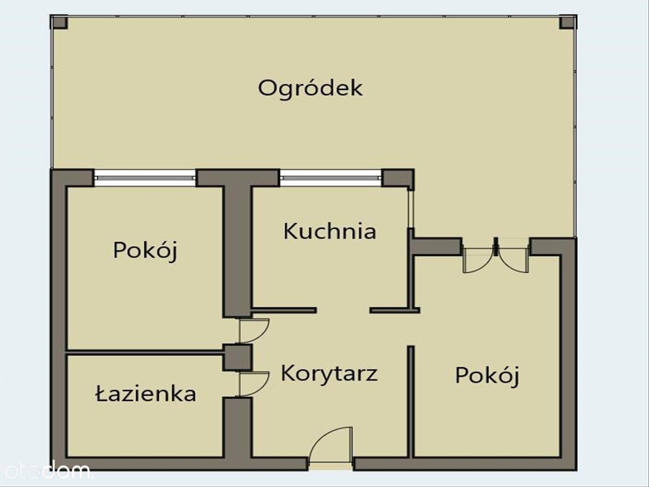 Do sprzedaży 2- pokojowe mieszkanie z ogródkiem.