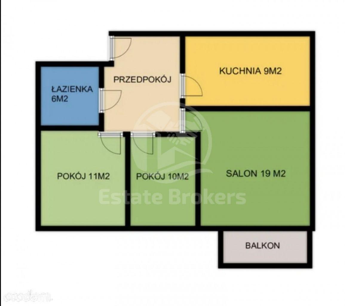 (Pl/Ru) 3 pokojowe-rozkładowe/Balkon/Duży salon