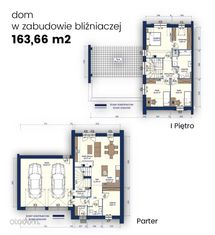 Dom 163,66 m2 z garażem dwustanowiskowym.