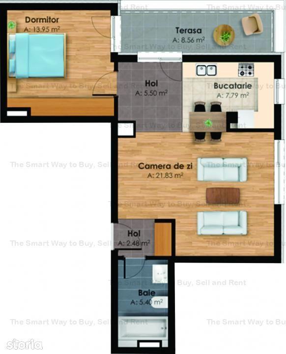 Apartament 2 camere cu CF in zona Centrala