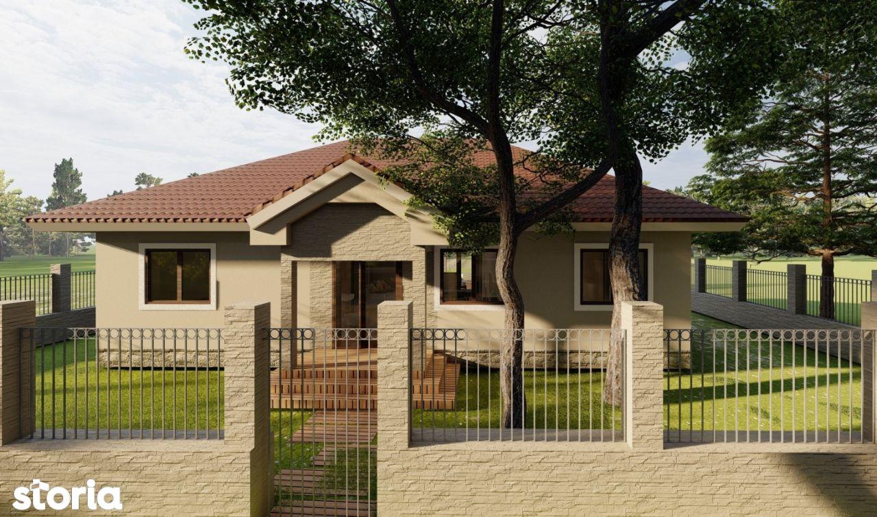 Casa constructie noua 4 camere de vanzare la intrarea in Santandrei