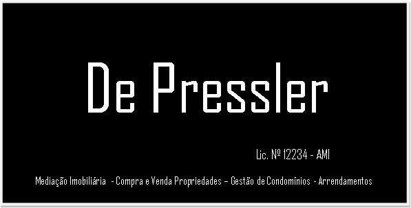 Agência Imobiliária: De Pressler- Mediação Imobiliária Lda