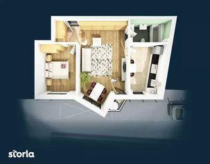 Apartament 2 camere, 57.63 mp, semifinisat, zona Centrala