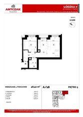 Na sprzedaż mieszkan,48,42m2, Łódzka 7