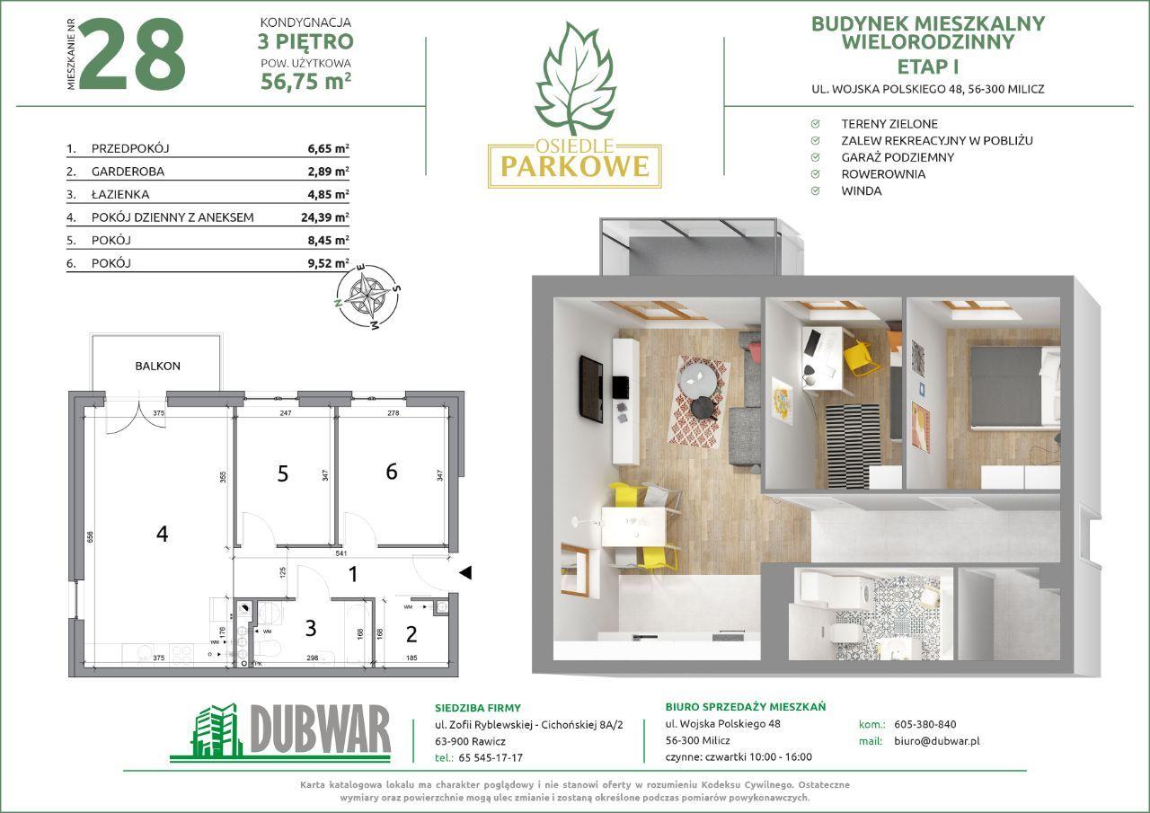 Nowoczesne mieszkanie w bloku z garażami-REZERWACJ
