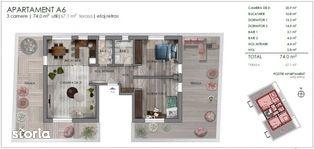 Penthouse 3 camere, terasa 67 mp, imobil mic, zona semicentrala