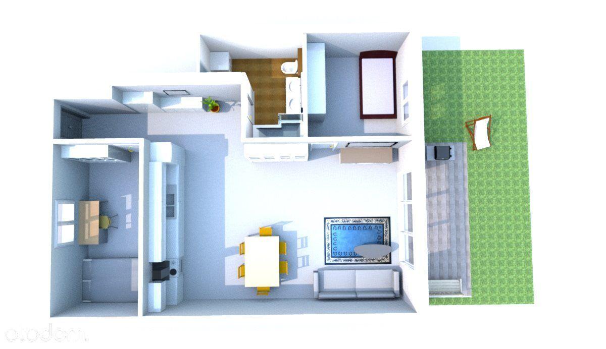 Apartament trzypokojowy + działka