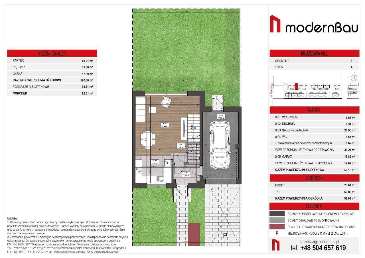 Wilanów/Zawady. Segment 155m. Ogródek 93 m2
