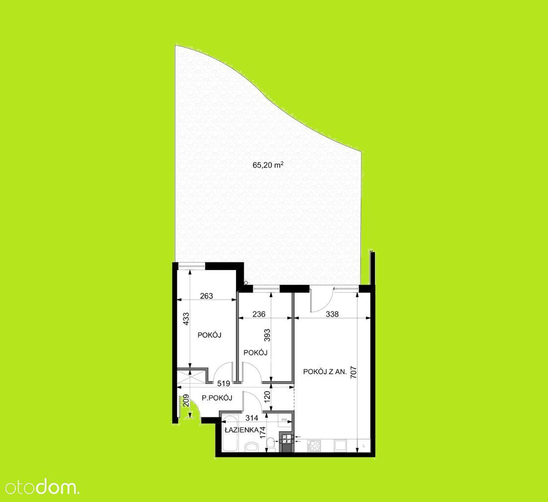 3 pokoje/OGRÓD 65 metrów/mieszkanie gotowe