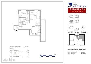 Przestronne dwupokojowe mieszkanie, taras 5,3m2!