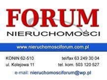 Deweloperzy: BIURO NIERUCHOMOŚCI FORUM - Konin, wielkopolskie
