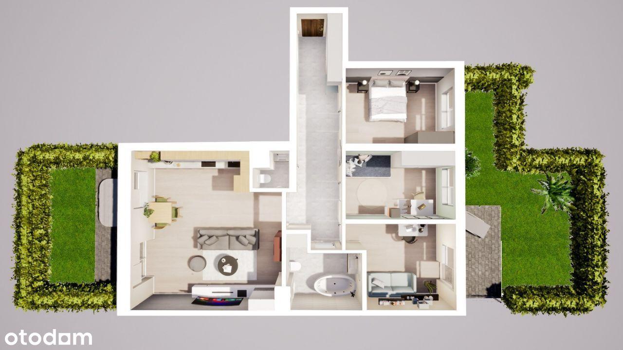 Wygodny apartament z tarasem i ogrodem