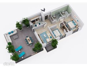 3 camere, 60 mp terasa, Pallady, direct dezvoltator, tva inclus