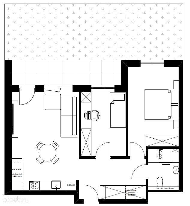 Mieszkanie 59,56m2+ 40,48m2 ogródka