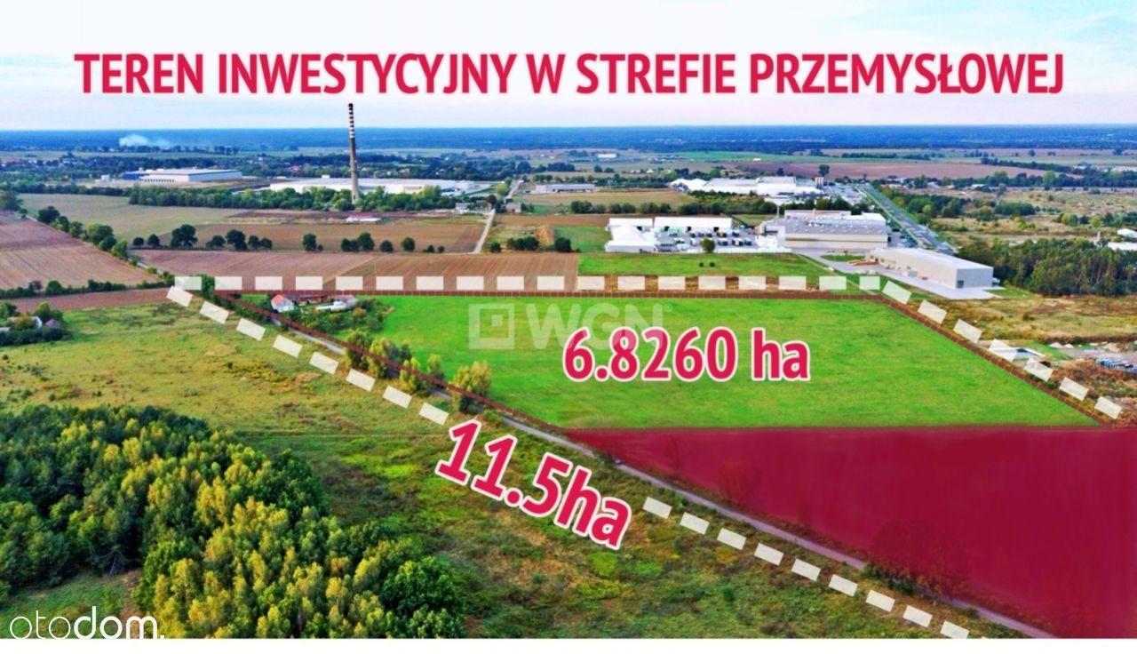 Atrakcyjny teren inwestycyjny 6.8 ha >>11.5 ha