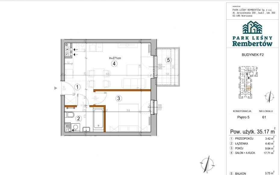 Ostatnie mieszkanie 2 pokojowe 35m2 Leśny Rembertó