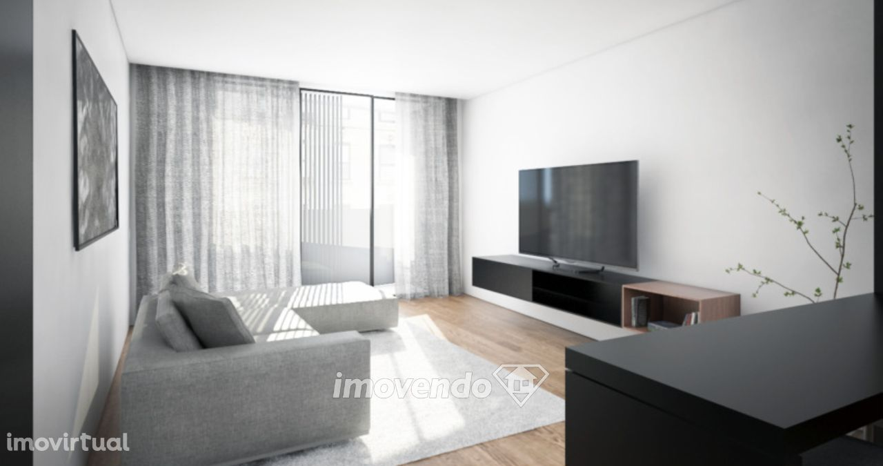 Apartamento T1, em empreendimento de luxo, em zona nobre do Porto