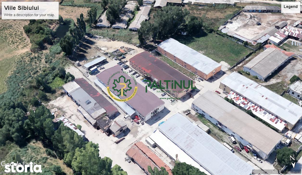 Hala depozitare, spatiu productie, acces tir, Viile Sibiului