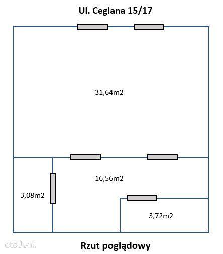 Bezpośrednio lokal handlowo-usługowy 55-100 m2