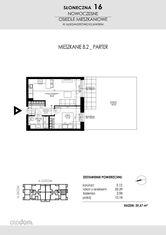 SŁONECZNA16 Mieszkanie B2 39,67 m2 Aleksandrów Ku
