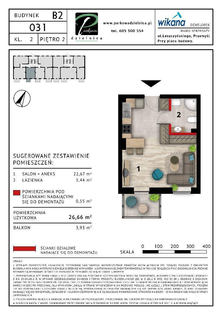 Mieszkanie nr 31 Budynek B2