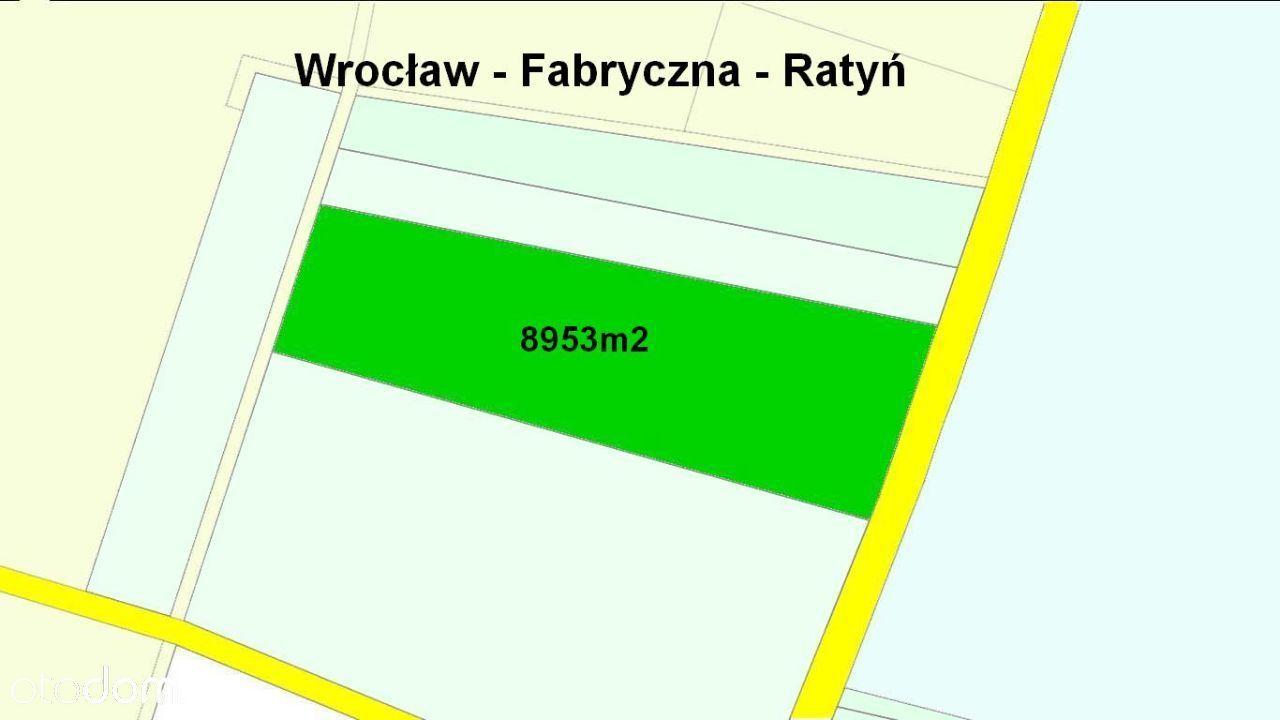 Wrocław Fabryczna Ratyń , działka 8953