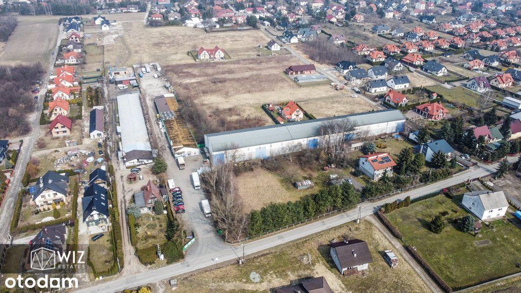 Murowana hala wysokiego składowania blisko Krakowa