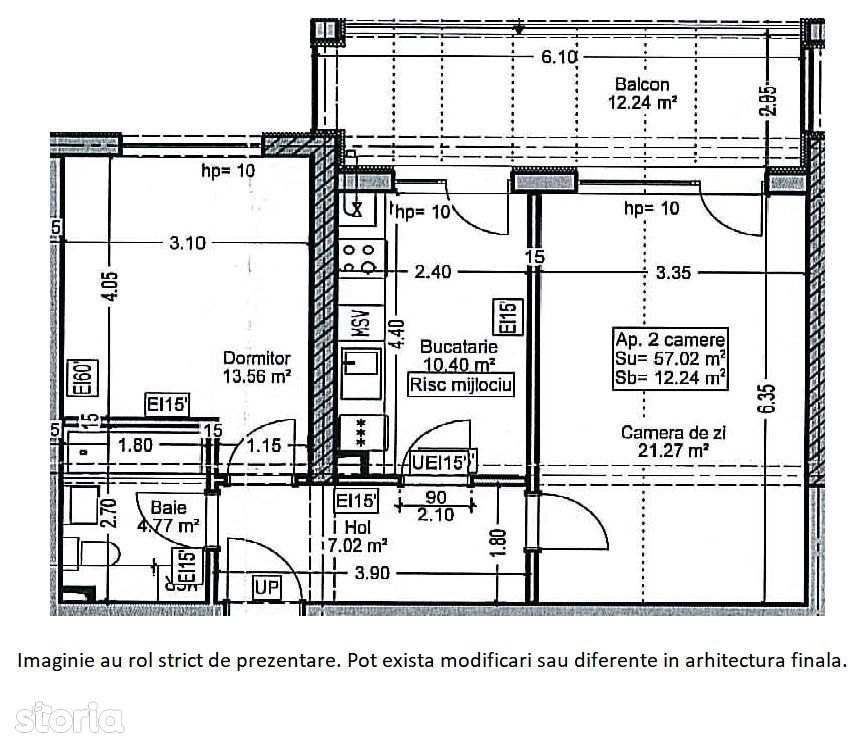 Apartament 2 camere Titan  - AUCHAN TITAN
