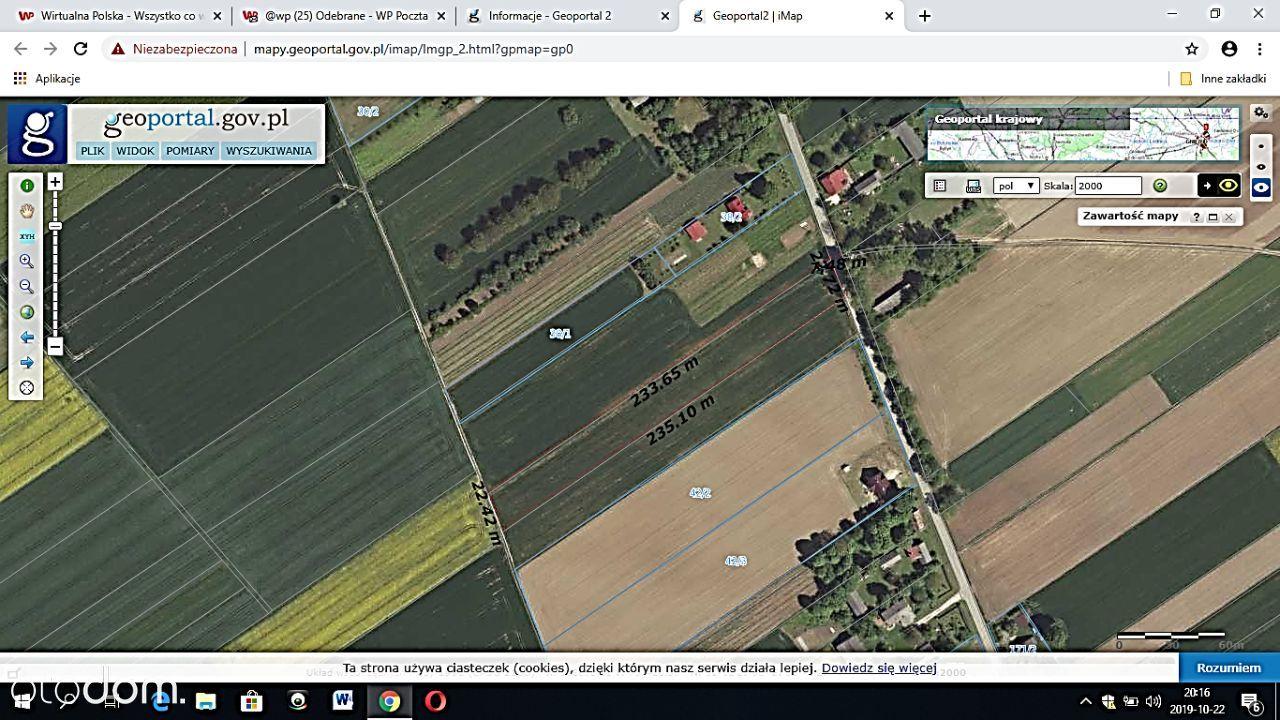 Działka 0,5 ha w zabudowie siedliskowej