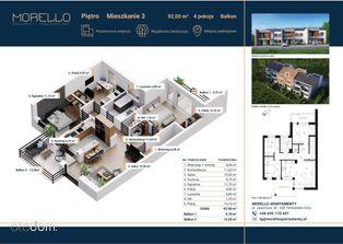 apartament [środkowy] dwa balkony Repty Śląski