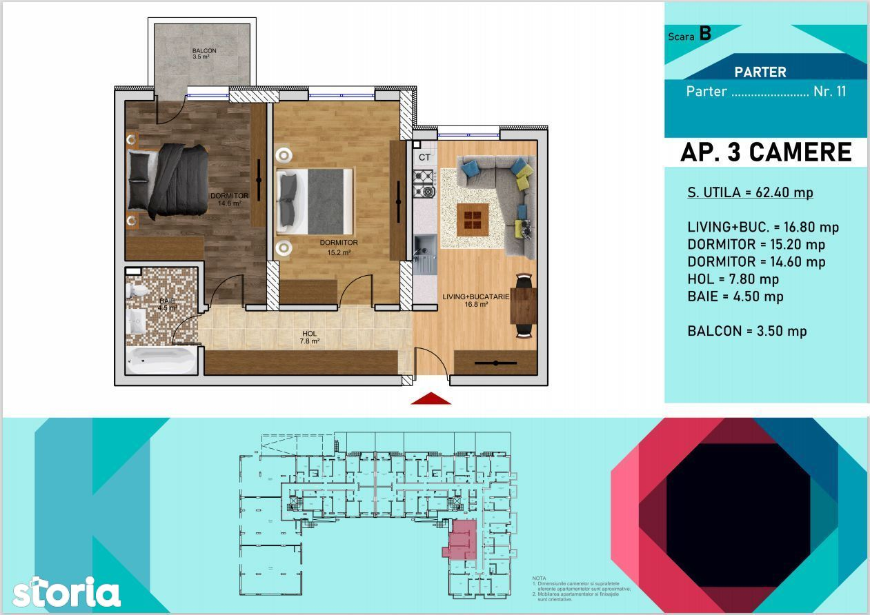 Apartament 3 camere   Titan- Metrou Nicolae Teclu,Parcul Teilor